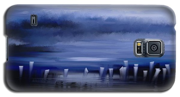Galaxy S5 Case featuring the painting Dark Mist by Eleonora Perlic