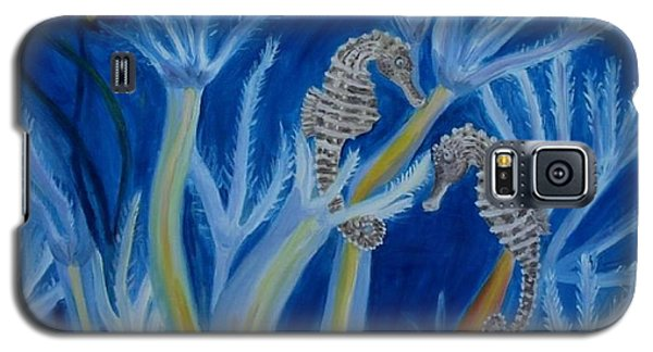 Galaxy S5 Case featuring the painting Date Night On The Reef by Julie Brugh Riffey