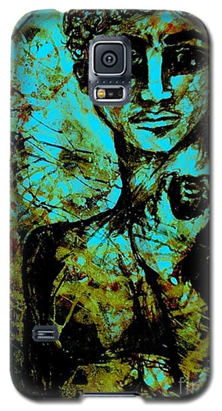 Galaxy S5 Case featuring the painting David Ll by Amy Sorrell