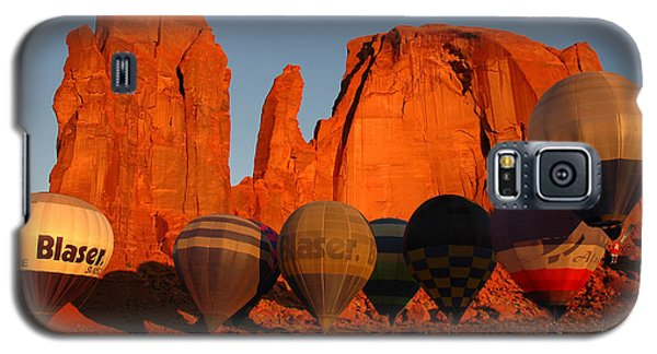 Galaxy S5 Case featuring the photograph Dawn Flight In Monument Valley by Vivian Christopher