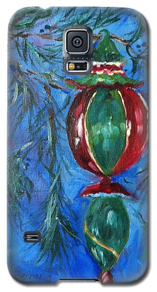 Galaxy S5 Case featuring the painting Deck The Halls by Carol Berning