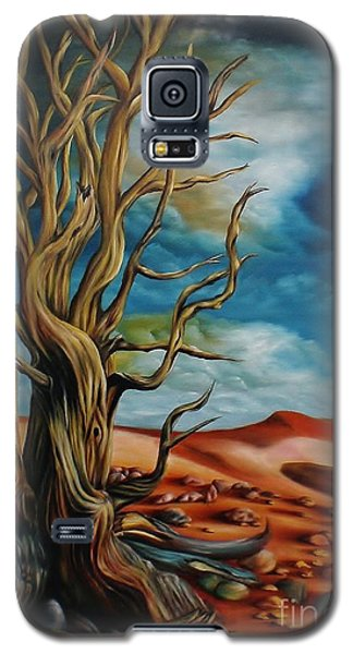 Galaxy S5 Case featuring the painting Defying Time by Paula L