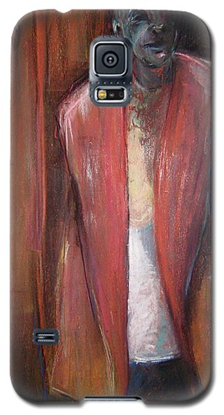 Galaxy S5 Case featuring the pastel Descendant by Gabrielle Wilson-Sealy