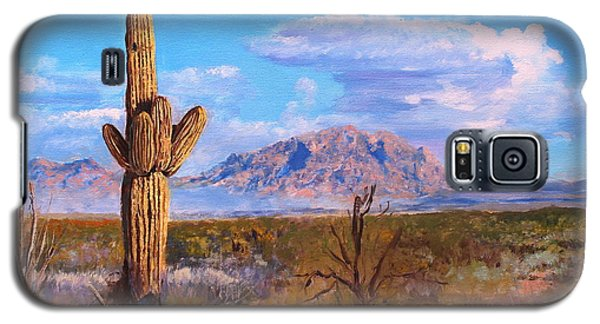 Galaxy S5 Case featuring the painting Desert Scene 4 by M Diane Bonaparte