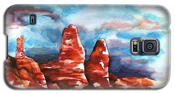 Galaxy S5 Case featuring the painting Desert Sentries by Sharon Mick