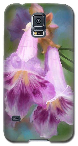 Desert Willow Floral Wall Art Galaxy S5 Case by Judy Filarecki