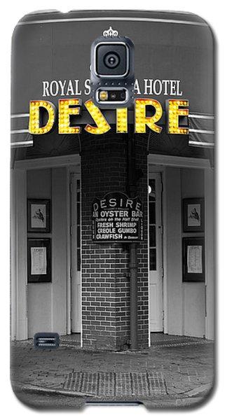 Desire Corner Bourbon Street French Quarter New Orleans Color Splash Black And White Digital Art  Galaxy S5 Case by Shawn O'Brien