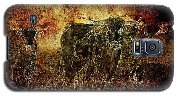 Devil's Herd - Texas Longhorn Cattle Galaxy S5 Case