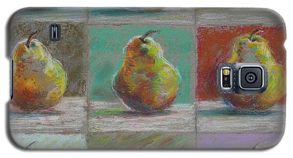 Galaxy S5 Case featuring the pastel  Pears by Bonnie Goedecke
