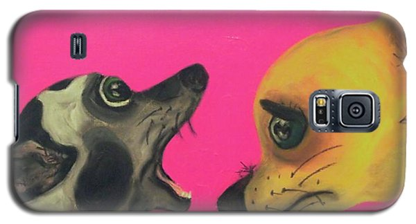 Galaxy S5 Case featuring the painting Did I Swallow A Bug by Laura  Grisham