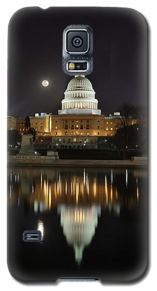 Digital Liquid - Full Moon At The Us Capitol Galaxy S5 Case
