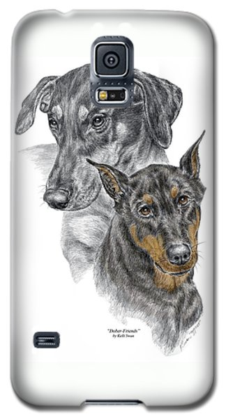 Dober-friends - Doberman Pinscher Portrait Color Tinted Galaxy S5 Case