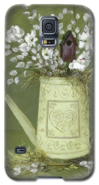 Galaxy S5 Case featuring the painting Dogwood Cuttings  by Nancy Patterson