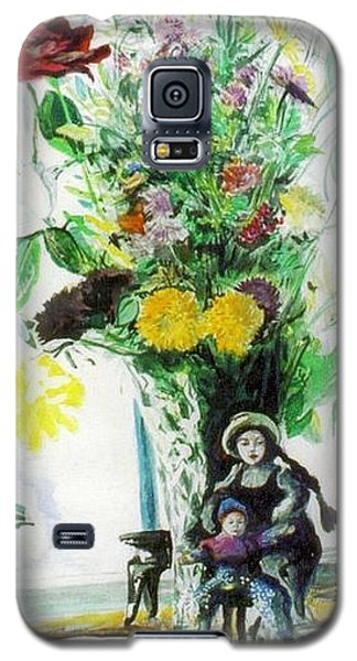 Dolls And Flowers Galaxy S5 Case