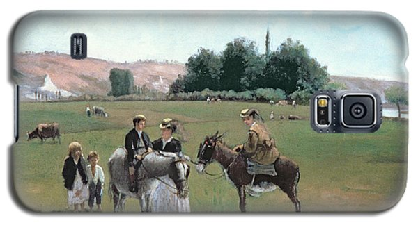 Donkey Ride Galaxy S5 Case by Camille Pissarro