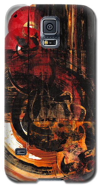 Galaxy S5 Case featuring the painting Don't Worry Be Happy  120.122210 by Kris Haas