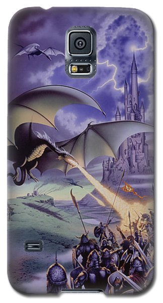 Dragon Combat Galaxy S5 Case by The Dragon Chronicles - Steve Re