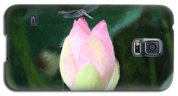 Dragonfly On Water Lily Galaxy S5 Case