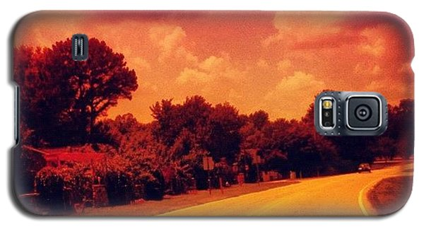 #driving #sky #clouds #road #summer Galaxy S5 Case by Katie Williams
