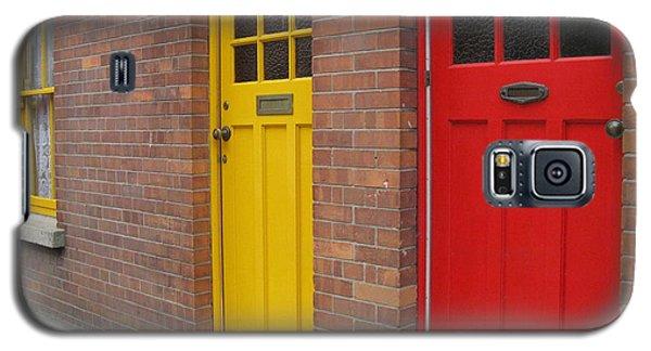 Galaxy S5 Case featuring the photograph Dublin Doors by Arlene Carmel