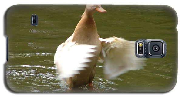 Galaxy S5 Case featuring the photograph Duck Flapper by Wendy McKennon