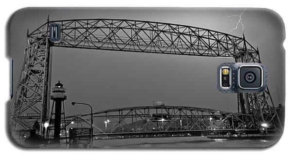 Duluth Lift Bridge Under Lightning Galaxy S5 Case by Mark David Zahn
