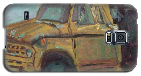 Galaxy S5 Case featuring the painting Dump Truck by Carol Berning