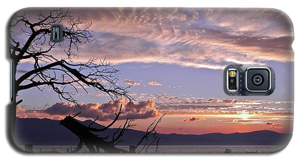 Galaxy S5 Case featuring the photograph Dusk Over Lake Tahoe by Kirsten Giving