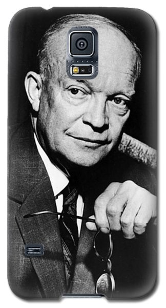 Galaxy S5 Case featuring the photograph Dwight D Eisenhower - President Of The United States Of America by International  Images