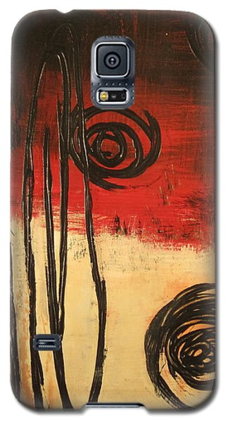 Galaxy S5 Case featuring the painting Dynamic Red 1 by Kathy Sheeran