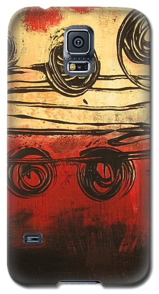 Galaxy S5 Case featuring the painting Dynamic Red 3 by Kathy Sheeran