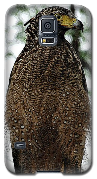 Galaxy S5 Case featuring the photograph Eagle At Bharatpur by Pravine Chester