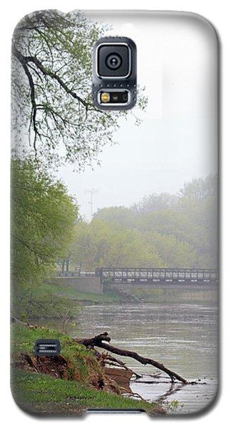 Galaxy S5 Case featuring the photograph Early Spring Morning Fog by Kay Novy