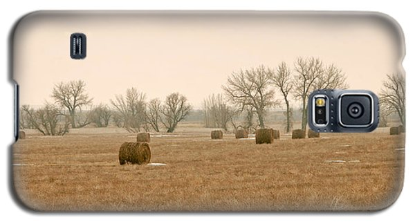 Earlying Morning Hay Bails Galaxy S5 Case by James Steele