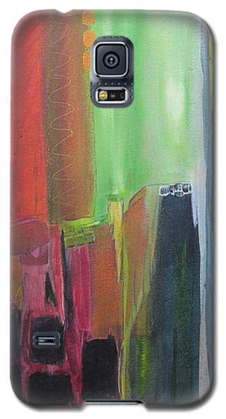 Galaxy S5 Case featuring the painting Earth Layers by Nicole Nadeau