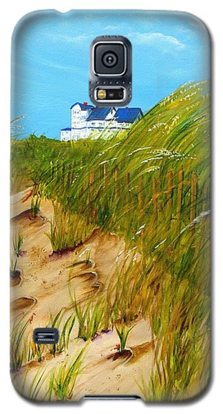 Galaxy S5 Case featuring the painting East Beach  Norfolk Va by Mary Kay Holladay