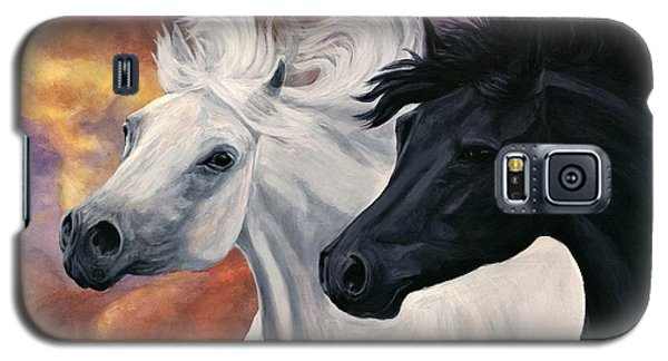 Galaxy S5 Case featuring the painting Ebony And Ivory by Sheri Gordon