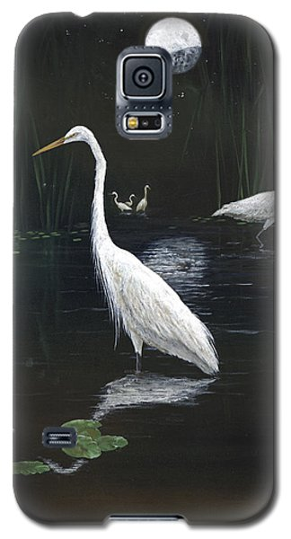 Egrets In The Moonlight Galaxy S5 Case