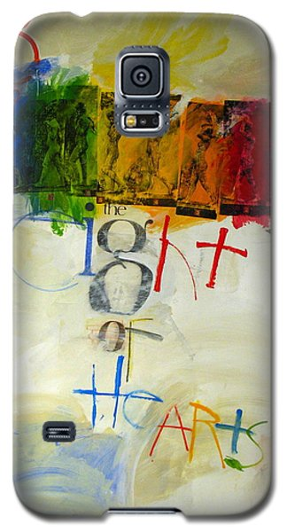 Galaxy S5 Case featuring the painting Eight Of Hearts 34-52 by Cliff Spohn