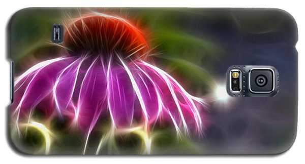 Galaxy S5 Case featuring the photograph Electrified Coneflower by Lynne Jenkins