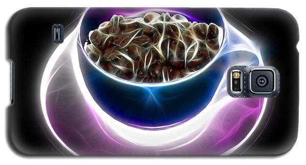 Galaxy S5 Case featuring the digital art Electrifyin The Coffee Bean -version Blue by James Ahn