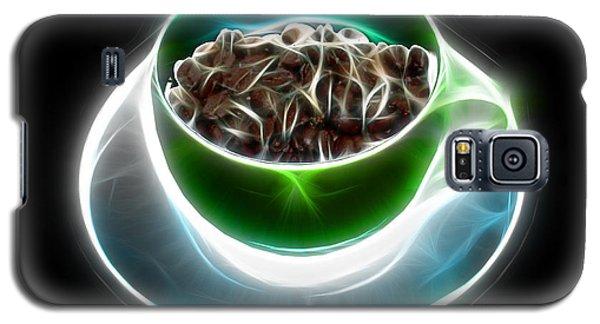 Galaxy S5 Case featuring the digital art Electrifyin The Coffee Bean -version Green by James Ahn