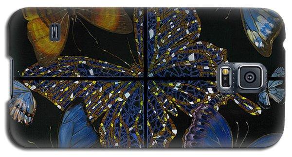 Galaxy S5 Case featuring the painting Elena Yakubovich Butterfly 2x2 by Elena Yakubovich