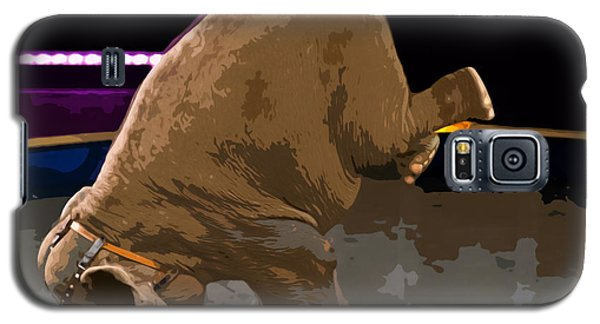 Galaxy S5 Case featuring the photograph Elephant Perfomance At Circus by Susan Leggett