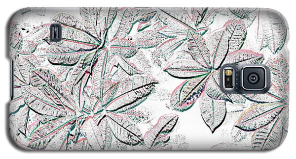Galaxy S5 Case featuring the photograph Embossed Crotons by Tom Wurl