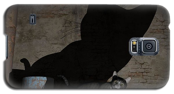 Galaxy S5 Case featuring the painting Emperor Of Midnight by Sipo Liimatainen