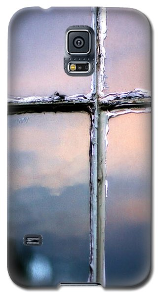 Empty Cross On The Window Of An Old Church Galaxy S5 Case