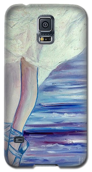Galaxy S5 Case featuring the painting En Pointe by Julie Brugh Riffey
