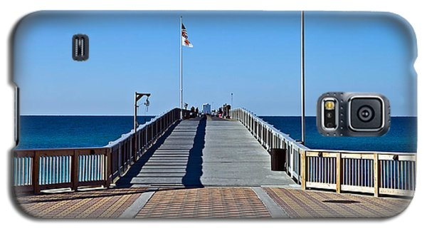 Galaxy S5 Case featuring the photograph Entrance To A Fishing Pier by Susan Leggett