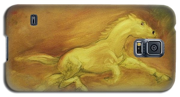 Galaxy S5 Case featuring the painting Escaping The Flames by George Pedro